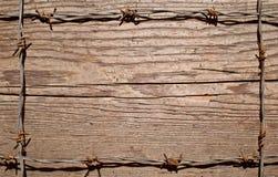 Рамка сделанная из колючей проволоки Стоковая Фотография