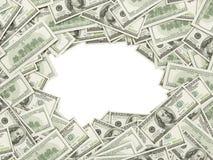 Рамка сделанная 100 долларов США представляет счет обе стороны Стоковые Фото