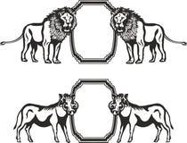 Рамка с животными Африки Стоковое Изображение RF