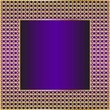 Рамка с золотой сеткой Стоковые Фото