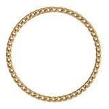 Рамка с золотой цепью Стоковая Фотография RF