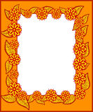 Рамка с листьями и цветками Стоковые Фото