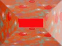 Рамка с красными и голубыми кругами Стоковая Фотография