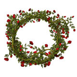 Рамка с красными розами Стоковые Изображения RF