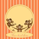 Рамка с обезьяной EPS 10 внутри Стоковая Фотография