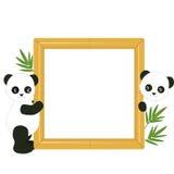 Рамка с пандами Стоковые Фотографии RF