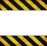 Рамка с предупреждающими нашивками Стоковые Изображения RF