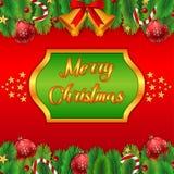 Рамка с Рождеством Христовым бесплатная иллюстрация
