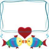 Рамка с рыбами Стоковое Изображение RF