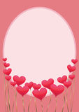 Рамка с сердцами вертикальными Стоковое Фото