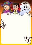 Рамка с темой 2 характеров хеллоуина Стоковые Изображения