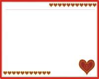 Рамка с формой сердца Стоковые Фото
