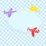 Рамка с цветастыми аэропланами Стоковая Фотография RF