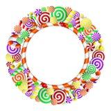 Рамка с цветастыми конфетами. Стоковое Изображение