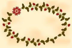 Рамка с цветками в форме эллипсиса Стоковая Фотография RF