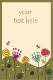 Рамка с цветками и бабочками Стоковые Изображения
