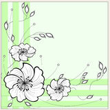 Рамка с цветками для надписи Стоковые Изображения