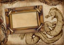 Рамка с драконом Стоковые Изображения RF