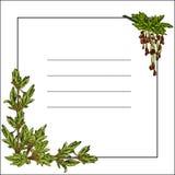 Рамка с blossoming зелеными листьями Иллюстрация вектора