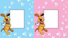 Рамка с doggy Стоковое Изображение