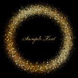 Рамка с sparkles золота Стоковая Фотография