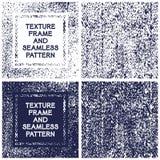 Рамка текстуры вектора и безшовная картина Стоковое Фото