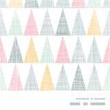 Рамка треугольников абстрактной ткани красочная текстурированная Стоковое Фото