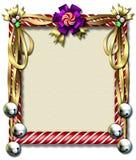 рамка тросточки конфеты колокола Стоковая Фотография RF