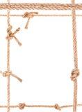 Рамка узла веревочки Стоковые Фото