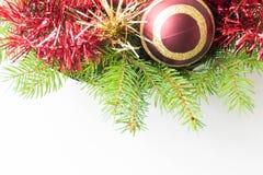 рамка украшения рождества Стоковое фото RF