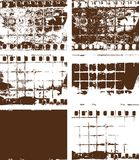 Рамка фильма Grunge и br текстур предпосылок Стоковая Фотография