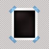 Рамка фото вектора, пустой шаблон, изолированная карточка бесплатная иллюстрация