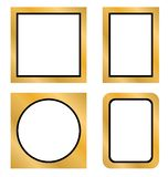 Рамка фото золота иллюстрация штока