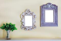 Рамка фото изображения на стене Стоковое фото RF