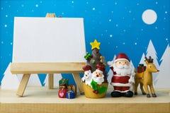 Рамка фото и игрушки детей для украшения рождества Стоковые Изображения