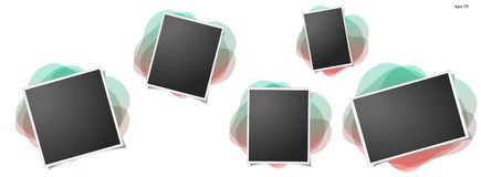 Рамка фото на изолированной предпосылке Для ваших фотографии и изображения иллюстрация штока