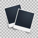 Рамка фото на прозрачной предпосылке также вектор иллюстрации притяжки corel Стоковая Фотография