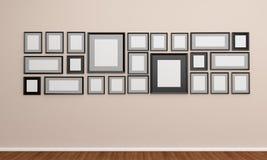Рамка фото на стене Стоковое Фото