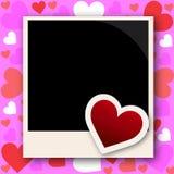 Рамка фото с влюбленностью бесплатная иллюстрация