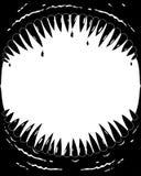 Рамка фото с клыками динозавра Стоковые Изображения RF