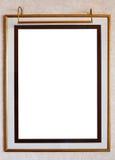 Рамка фото с светильником иллюстрация штока