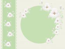 Рамка фото с цветками Стоковая Фотография RF