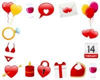 Рамка фото ` s валентинки St горизонтальная Стоковое Изображение