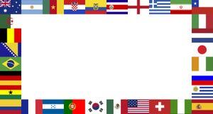 Рамка флагов выпускных экзаменов кубка мира 2014 стоковая фотография rf