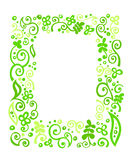 Рамка флористического орнамента Стоковое Фото