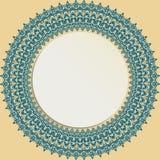 Рамка флористического современного вектора круглая Стоковые Изображения