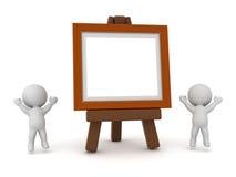 рамка характера 3D и художественного произведения Стоковое Изображение