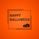 Рамка хеллоуина на оранжевой предпосылке Стоковые Изображения RF