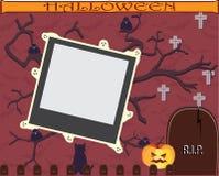 Рамка хеллоуина для scrapbooking Стоковое Изображение