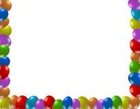 Рамка цветастых воздушных шаров Стоковое Изображение RF